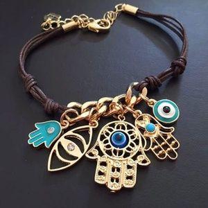 String Knit Link Hand - Fatima Hamsa Bracelet Evil
